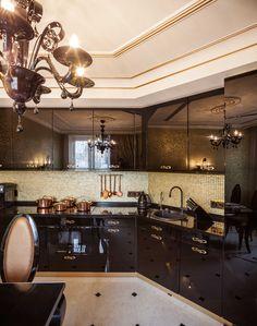 Интерьер кухни. architectural studio INSCALE #kitchen #artdecokitchen #kitchendesign #design #interior #homedecor #interiordesign #inscale #inscalestudio #artdeco / интерьер в ар-деко / дизайн квартиры / дизайн квартир петербург / кухня в ар-деко