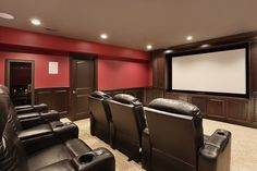 Top 70 Best Home Theater Seating Ideas - Movie Room Designs Home Theater Wiring, Home Theater Installation, Home Theater Decor, Best Home Theater, At Home Movie Theater, Home Theater Speakers, Home Theater Rooms, Home Theater Design, Home Theater Seating