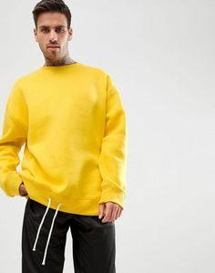 boohooMAN Oversized Sweat In Yellow