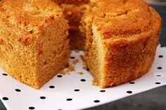 Pumpkin Angel Food Cake. I hate pumpkin, but Mike and Asa like it. I'll give it a try