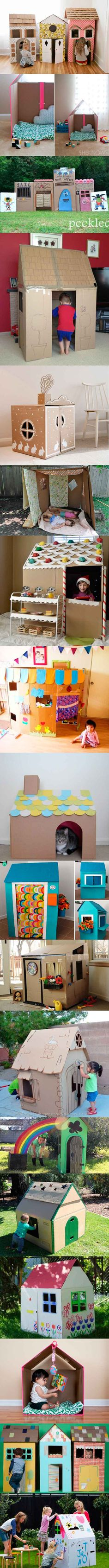 Cardboard Play, Play Houses, Toddler Activities, Diy For Kids, Baby Kids, Diy And Crafts, Toys, Apraxia, Playroom