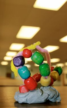 Toddler sculpture inspired by the work of Alexander Calder