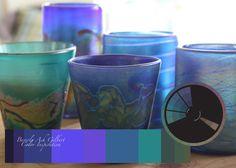 Color Inspiration - Collection of Glasses, color wheel, color palette