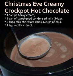 Crockpot Hot Chocolate! What a great idea for a get together during the Holidays