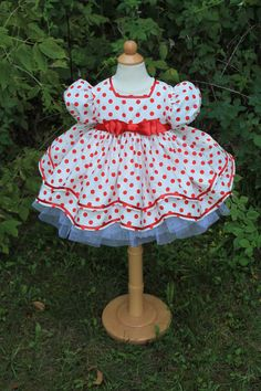Shirley Temple Inspired Girls Dress Set  by correenscdesigns, $199.95