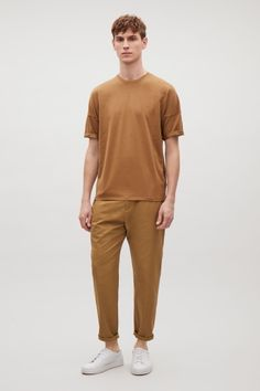 COS image 1 of Oversized cotton jersey t-shirt in Tan