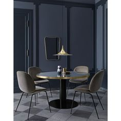 Small Dining, Round Dining Table, Dining Chairs, Dining Rooms, Round Tables, Room Chairs, Beetle Chair, Living Divani, Lampe Retro