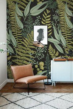 Fondos botánicos helechos Wallpaper Mural de la pared verde | Etsy