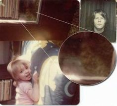 This photographer was taking a pic of his daughter but the face of his newly deceased friend showed up in the background -compare it to the pic of that very friend included  here