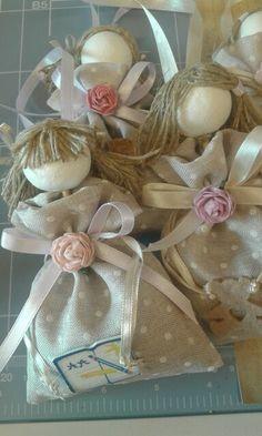 Sacchetti lavanda  Bamboline Sacchetto di cotone