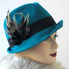 Wool Fedora Trilby Hat- Winter Hat- Women- Winter Accessories- Fall fashion. $180.00, via Etsy.