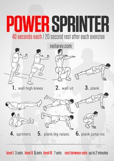 Power Sprinter Workout http://neilarey.com/workouts/power-sprinter-workout.html