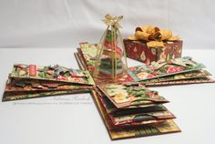 Large Explosion Box - Graphic 45: 12 Days of Christmas - by Sabrina Radeck at Aspiring to Creativity