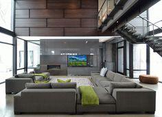 Lake Waconia House - contemporary - living room - Minneapolis - ALTUS Architecture + Design