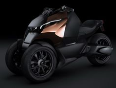 French automakers, Peugeot will be showcasing their new three wheeler called Onyx Supertrike at the upcoming Paris Motor Show. This vehicle borrows its inspiration from the 680 hp Onyx Hybrid Supercar Concept, a diesel electric offering with a V8 diesel hybrid powertrain.