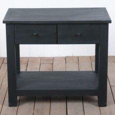 Simon Black 2 Drawer Bedside Table