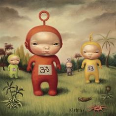 This is how i pictured Teletubbies as a child.