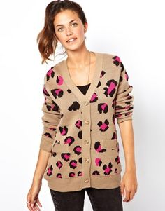 Lucca Couture Leopard Cardigan