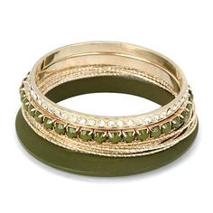 C06621 green gold bangle
