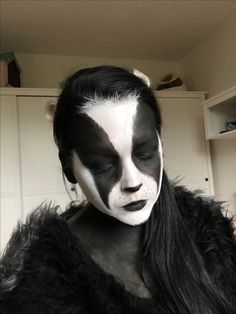 #badger #costume #makeup #blackandwhite #costumeparty #woodlandparty #woodland