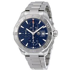TAG Heuer Men's 'Aquaracer' Swiss Automatic Stainless Steel Dress Watch, Color:Silver-Toned (Model: CAY2112.BA0927) https://www.carrywatches.com/product/tag-heuer-mens-aquaracer-swiss-automatic-stainless-steel-dress-watch-colorsilver-toned-model-cay2112-b