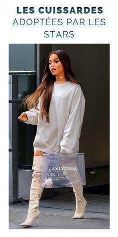 Ariana Grande Outfit: A White Sweatshirt + Choker Necklace Ariana Grande Photoshoot, Ariana Grande Fotos, Ariana Grande Vestidos, Ariana Grande Outfits Casual, Ariana Grande Cute, Ariana Grande Clothes, Look Fashion, Fashion Outfits, Fashion Black