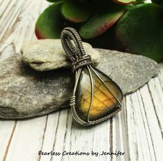 Sterling Silver Necklace - Wire Wrapped Labradorite Pendant - Best Selling Items - Steampunk Jewelry Gift for Her - Antique Silver Jewely by FearlessCreationsbyJ on Etsy