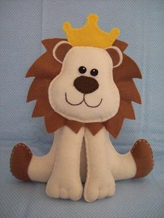 Leão de feltro