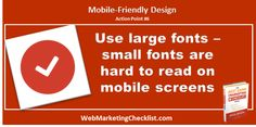 Small font is hard to see on #mobile screens. #BestDamnBook