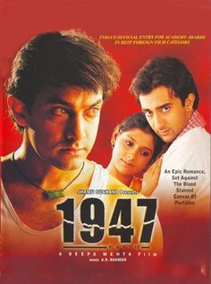 1947 Earth Hindi Movie Online - Aamir Khan, Nandita Das, Rahul Khanna, Maia Sethna, Shabana Azmi, Kitu Gidwani and Arif Zakaria. Directed by Deepa Mehta. Music by A. R. Rahman. 1998 [A] ENGLISH SUBTITLE