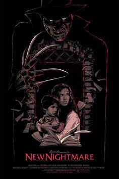 Classic Horror Movie Poster Art Series by Matt Ryan Tobin — GeekTyrant Horror Movie Posters, Horror Icons, Movie Poster Art, Horror Art, Fan Poster, New Nightmare, Nightmare On Elm Street, Jason Voorhees, Freddy Krueger