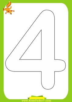 4 | Kids Under 7: Number Coloring Pages (1-10)