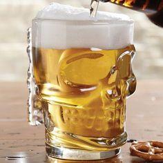 Kikkerland® 16 Oz. Skull Beer Stein