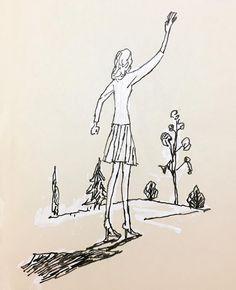 Doodle 新潮のためのカット #illustration #illustrator #tatsurokiuchi #art #drawing #life #lifestyle #happy #japan #people #girl #木内達朗 #イラスト #イラストレーション #blackandwhite #monoprint