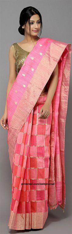 Handwoven Dupion saree from theloom.in