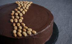 Erdnusstorte mit Schokoladenfrosting