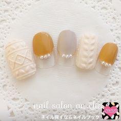 (484442) Hot Nail Designs, Winter Nail Designs, Nail Polish Designs, Autumn Nails, Winter Nails, Hot Nails, Swag Nails, Holiday Nail Art, Japanese Nails