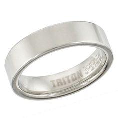 Triton Men's 6.0mm Comfort Fit Tungsten Wedding Band - Zales