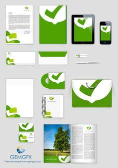PSD Corporate Identity Mock Up by Everard McBain, via Behance