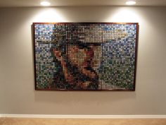 All made from bottle crown caps, make wall art or table