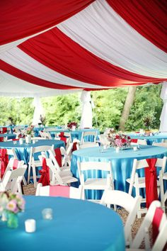 Carnival themed wedding, seating and tent. Oh my god. Circus Theme Party, Carnival Birthday, Party Themes, Halloween Circus, Birthday Table, 3rd Birthday, Country Fair, Ceiling Treatments, Carnival Themes
