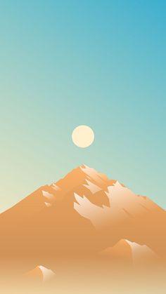 Sun by Marina Matijaca Landscape Illustration, Landscape Art, Digital Illustration, Graphic Illustration, Mobile Wallpaper, Wallpaper Backgrounds, Iphone Backgrounds, Minimal Wallpaper, Whatsapp Wallpaper