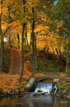 Waterfall Bridge, Riga, Latvia