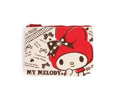 $10.75  Check out My Melody Flat Canvas Pouch: Red Sketch from Sanrio