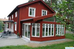 Where To Buy Exterior Shutters Key: 5425574084 Red Cottage, Cottage Homes, Country Home Exteriors, Sweden House, Red Houses, Cottage Exterior, House Siding, House Extensions, Scandinavian Home