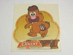 ADESIVO anni  80 MOTTA CIOCORI  CON LIBRI / Old Sticker _ (cm 11 x 12)