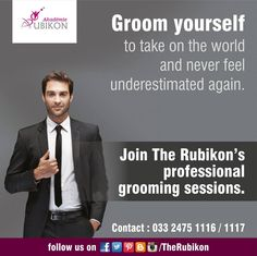 Groom and build up your confidence with The Rubikon so that the next time you head out to a professional meeting/interview, you don't have to worry about your diction.  #TheRubikon #groom #confidence #attitude #diction #rule #interview #meeting