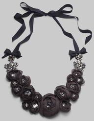 how to make necklaces with pearls, ribbon, flowers - Google Search