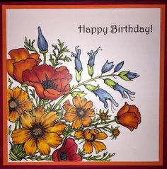 Rowhouse Greetings : Countryside Bouquet by Power Poppy