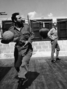 Giangiacomo Feltrinelli playing ball with Fidel Castro, La Havana,